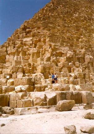 Bob and Diana on the Great Pyramid of Giza (Cheops)
