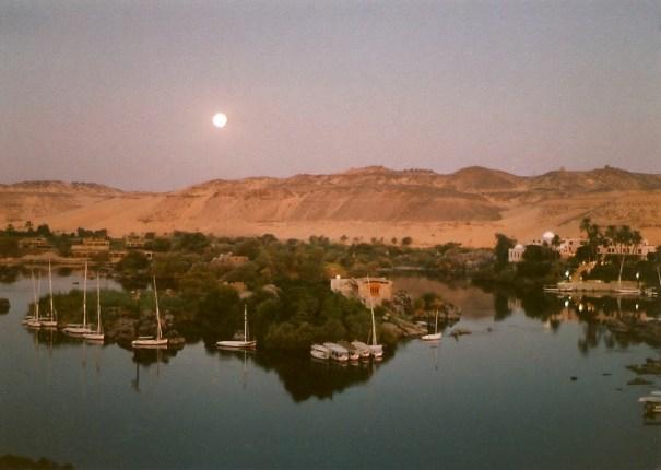 Moonrise over the Nile