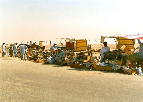 Vendors by the pyramids