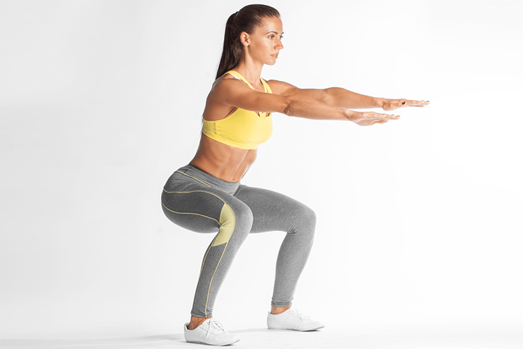 home workout squats