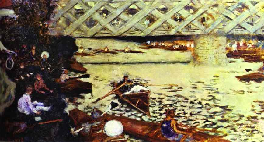 Pierre Bonnard. Le Canotage a Chatou. 1896. Oil on canvas. Private collection.