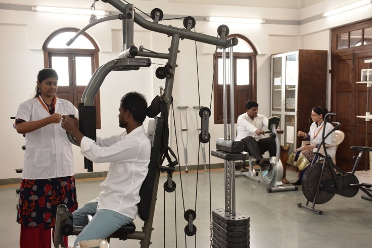 Therapeutic gymnasium of the newly launched 40,000sqft K J Somaiya College of Physiotherapy in Mumbai. The facility is the largest of its kind in the City
