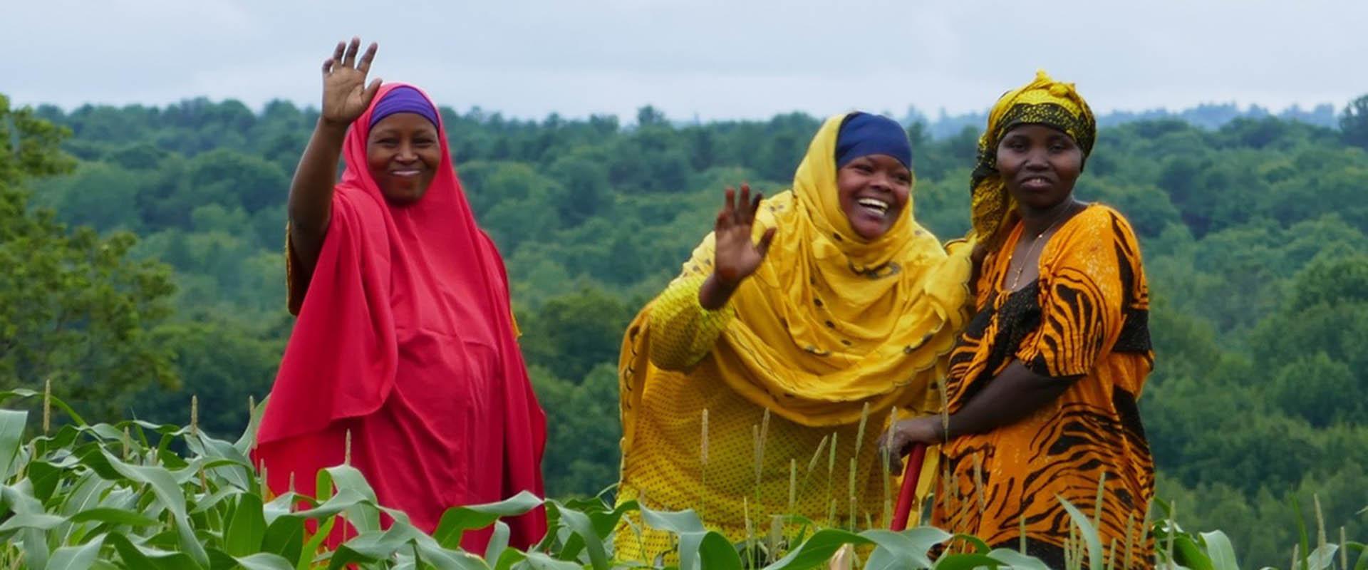 Somali Bantu women at Liberation Farms