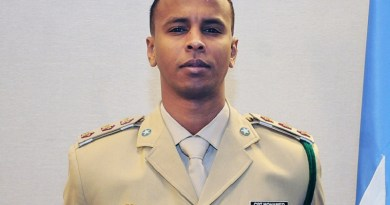 Capt. Mohamed Yusuf Mohamed of the Somali National Armed Forces,
