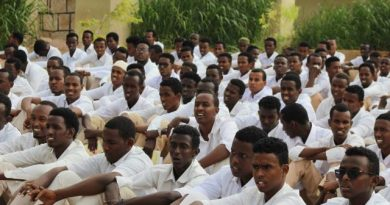 students in Puntland school