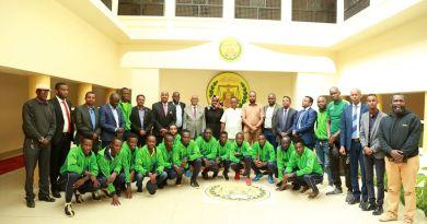 Kenyan football team visiting Somaliland