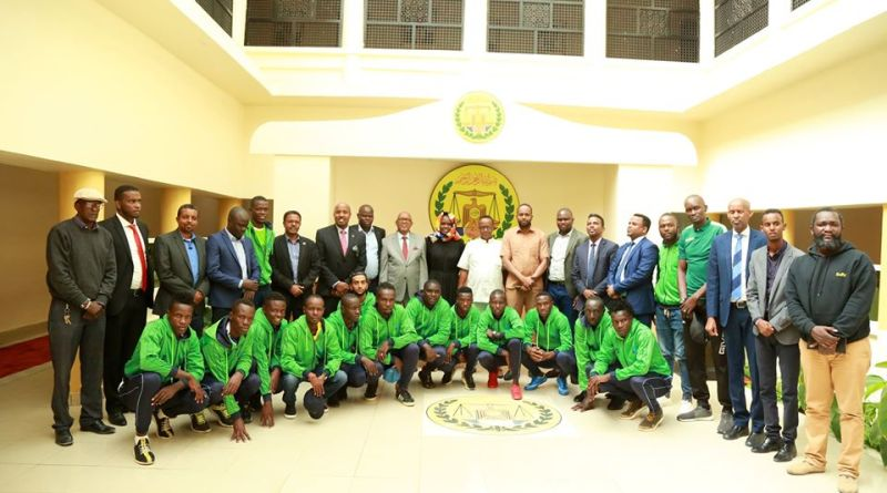 Kenyan football team visiting Somaliland