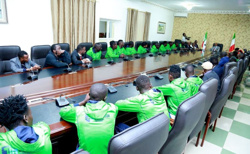 Kenyan football team visiting Somaliland2