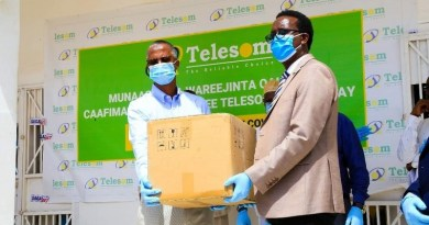 Telesom COVID 19 Medical equipment handover 1