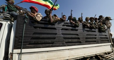 Members of the Amhara region armed group