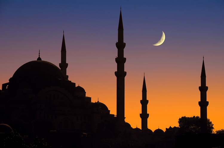 nightfall at the mosque