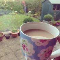 Enjoying a cuppa