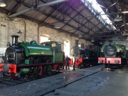 Inside the train shed