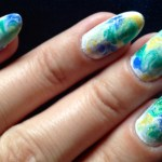 Nails Of The Week Marble In Green Yellow Blue And White So Many Lovely Things