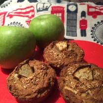 Apple protein muffins