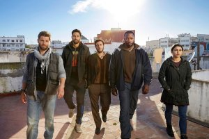 "THE BRAVE -- Season: Pilot -- Pictured: (l-r) Mike Vogel as Captain Adam Dalton, Noah Mills as Sergeant Joseph ""McG"" McGuire, Hadi Tabbal as Agent Amir Al-Raisani, Demetrius Grosse as CPO"