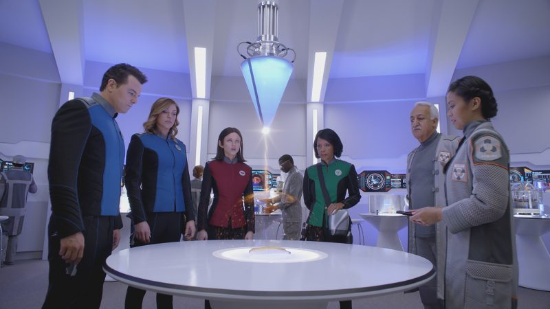 The Orville crew on an away mission