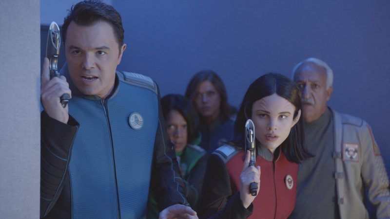 The Orville crew in action