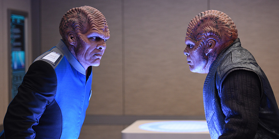 The Orville 103 - About A Girl - Bortus (Peter Macon) and Klyden (Chad Coleman)