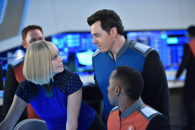 The Orville 105 - Pria - Pria (Charlize Theron) and the bridge crew.