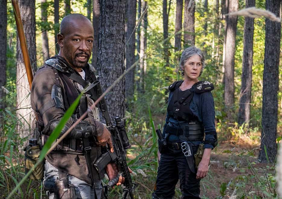 The Walking Dead, Morgan Jones (Lennie James) and Carol Peletier (Melissa McBride) in Episode 14 Photo by Gene Page/AMC