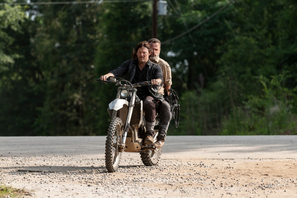 Andrew Lincoln as Rick Grimes, Norman Reedus as Daryl Dixon - The Walking Dead _ Season 9, Episode 4 - Photo Credit: Gene Page/AMC