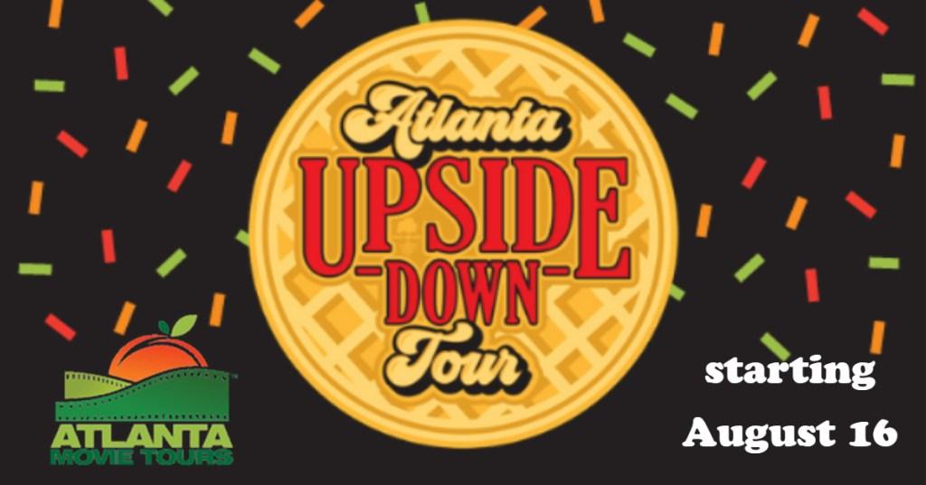 Atlanta Movie Tours announces Stranger Things themed Upside Down Tour Logos credited to: Atlanta Movie Tours