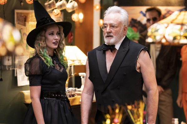 "PERFECT HARMONY -- ""HALLE-BOO-YAH"" Episode 106 -- Pictured: (l-r) Bradley Whitford as Arthur Cochran, Anna Camp as Ginny -- (Photo by: Justin Lubin/NBC)"
