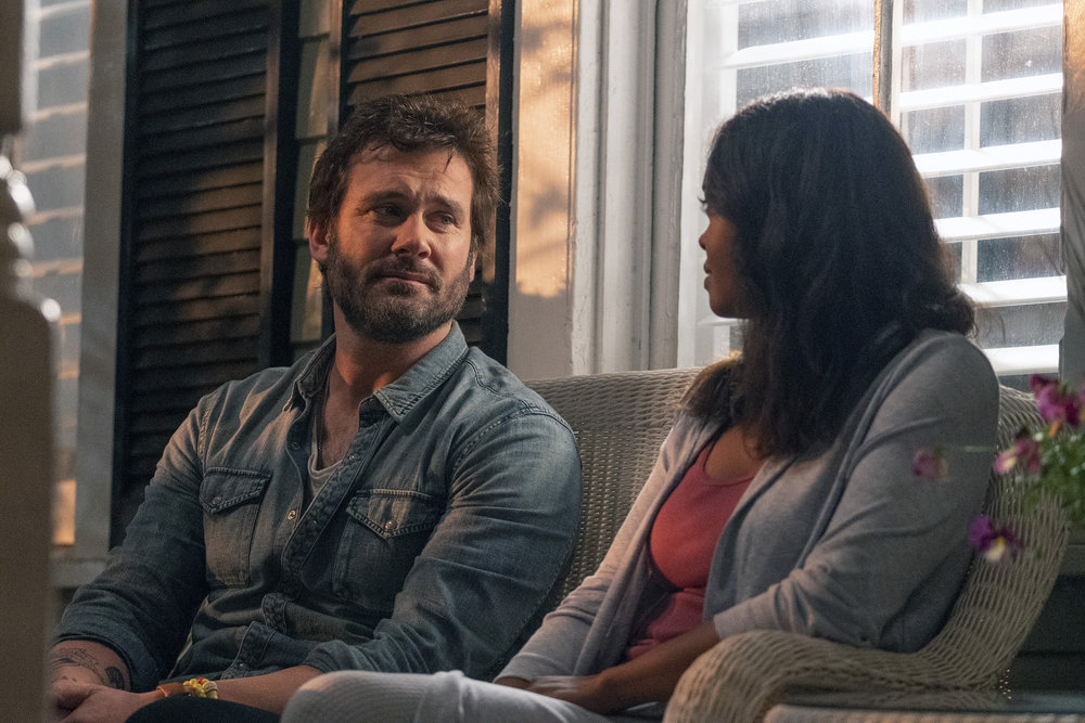 """COUNCIL OF DADS -- """"Who Do You 'Wanna' Be?"""" Episode 103 -- Pictured: (l-r) Clive Standen as Anthony Lavelle, Sharon Leal as Michelle -- (Photo by: Seth F. Johnson/NBC)"""