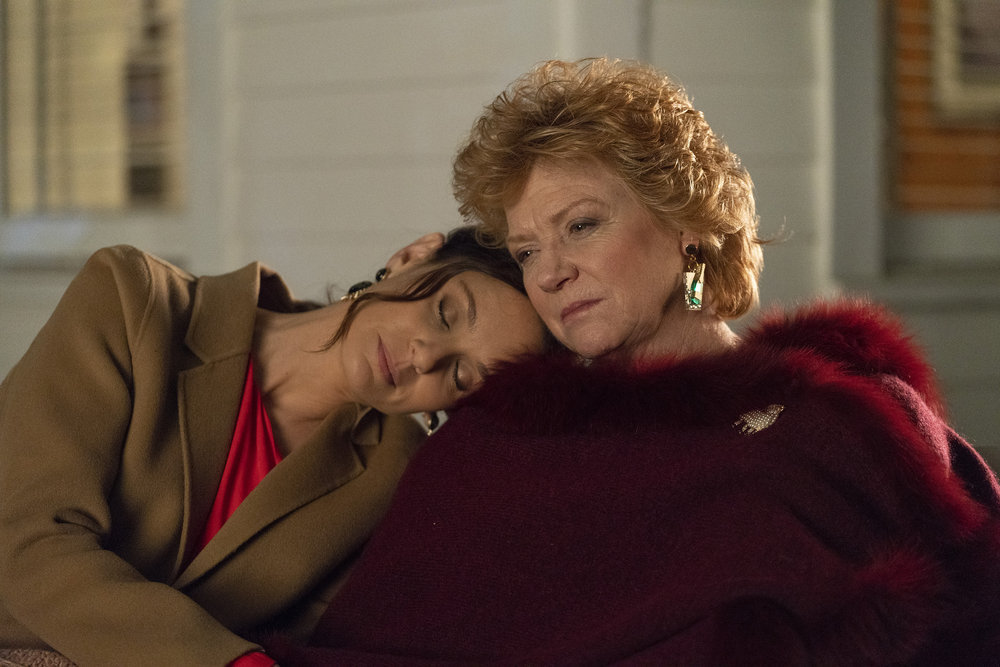 """COUNCIL OF DADS -- """"Tradition"""" Episode 105 -- Pictured: (l-r) Sarah Wayne Callies as Robin Perry, Becky Ann Baker as Patricia -- (Photo by: Seth F. Johnson/NBC)"""