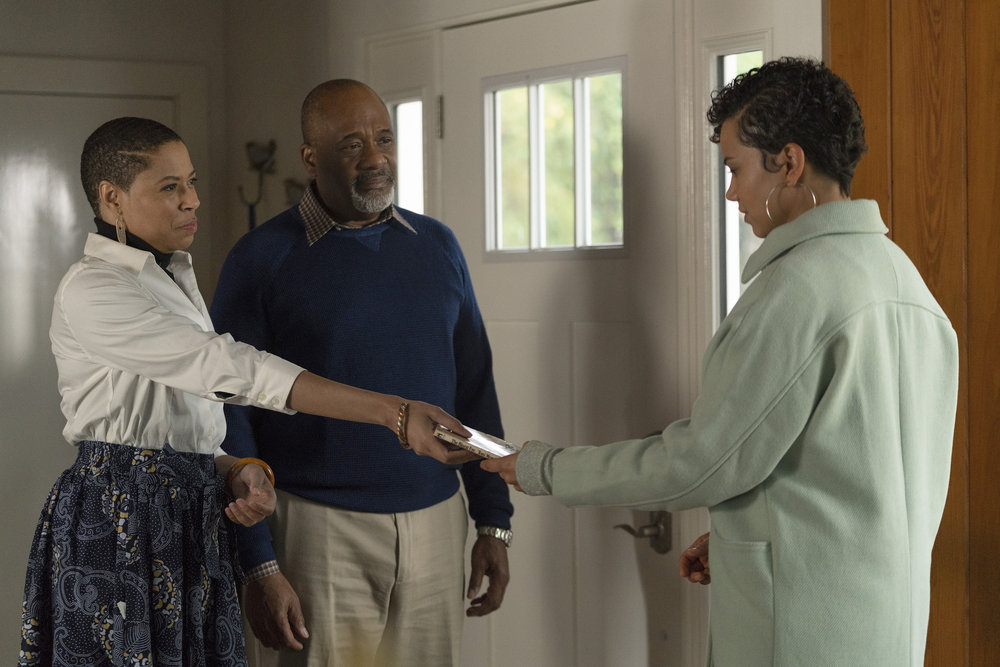 "COUNCIL OF DADS -- ""Heart Medicine"" Episode 106 -- Pictured: (l-r) Orelon Sidney as Regina Calhoun, Greg Alan Williams as Will Calhoun, Michele Weaver as Luly Perry -- (Photo by: Seth F. Johnson/NBC)"