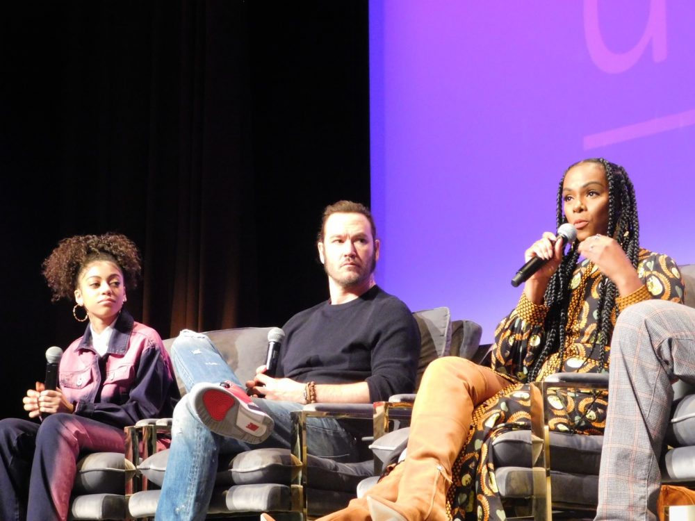 SCAD aTVfest 2020, Mixed-ish cast members Arica Himmel, Mark-Paul Gosselaar and Tika Sumpter Photo credit: Tracey Phillipps