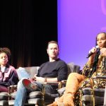 SCAD aTVfest 2020, Mixed-ish cast members Arica Himmel, Mark-Paul Gosselaar and Tika Sumpter Photo credit: Tracey Phillipps