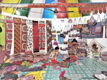 Handicrafts being sold in Bhunga
