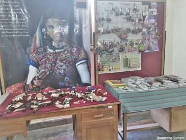 Handicrafts on display at Qasab, Khavda Village