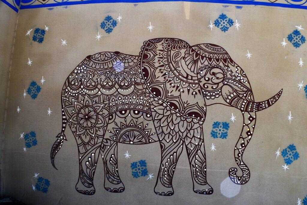 Elephant Mural, Rann Utsav