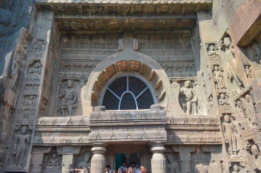 Facade of Cave 19, Ajanta