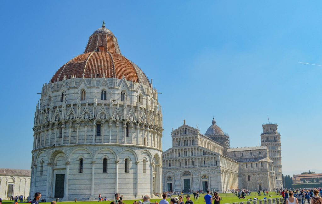 Baptistary Cathedral and Leaning Tower of Pisa