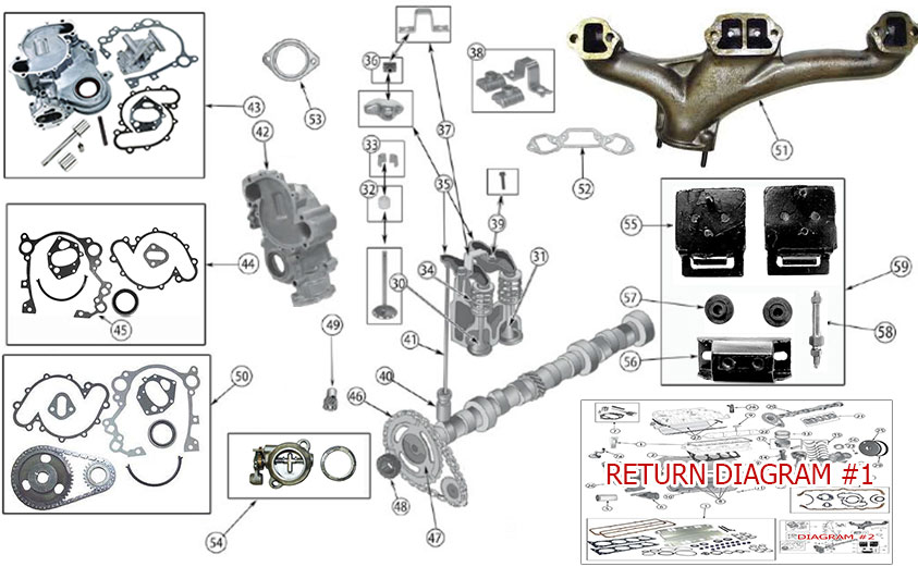 Diagrams For Jeep :: Engine Parts :: AMC V8 Engine (Continued