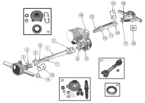 Diagrams For Jeep :: DriveShafts Parts :: Wrangler YJ