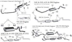 Diagrams For Jeep :: Exhaust Parts :: CJ 5586