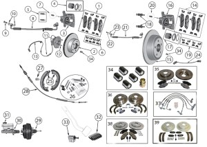 Brake Diagram for Jeep Wrangler JK (20072017)