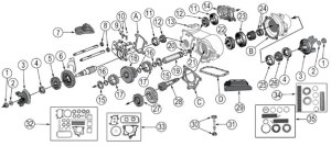 Diagrams For Jeep :: Transfer Parts :: Dana 20 Transfer