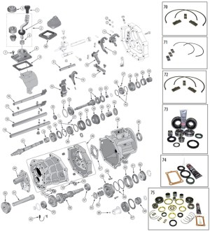 Diagrams For Jeep :: Transmission Parts :: AX15 Transmission