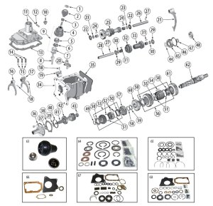Transmission Diagram for T176 & T177 Tremec 4Speed