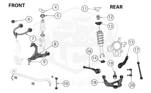 Diagrams For Jeep :: Suspension Parts :: Grand Cherokee WK
