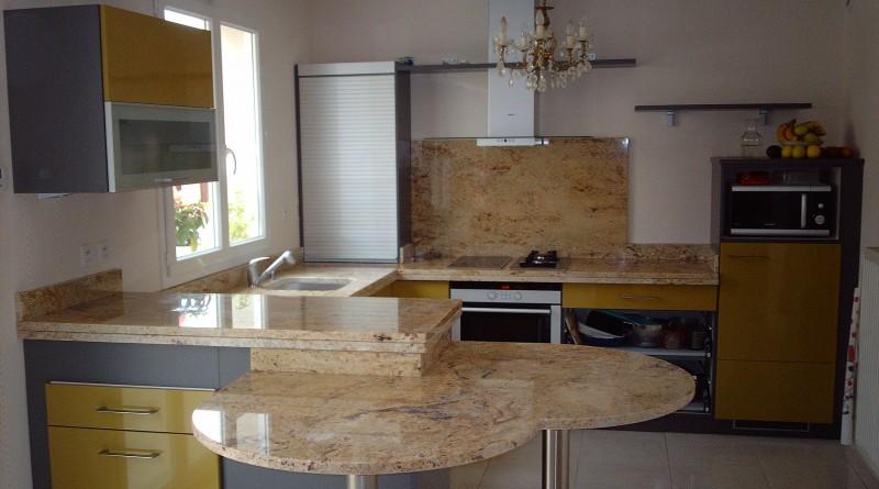 plan de travail de cuisine en granit somat decor marbrier de decoration