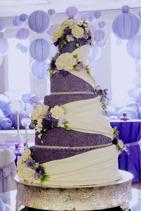 Soma Sengupta Indian Wedding Cakes  Elegant Purple    Indian     000000000000001b