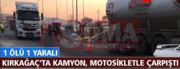 Komşu ilçe Kırkağaç'a üzücü kaza 1 ölü