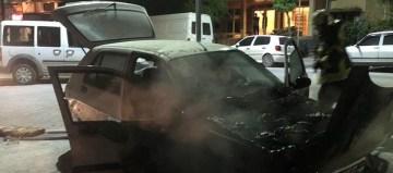 Soma'da alev alan aracı itfaiye söndürdü